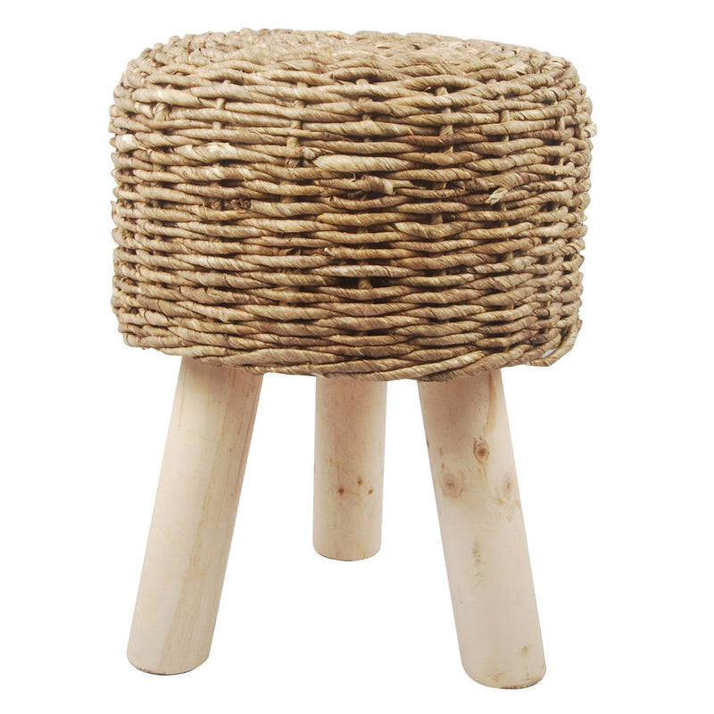 A&B Home Austen Maize Rope Stool