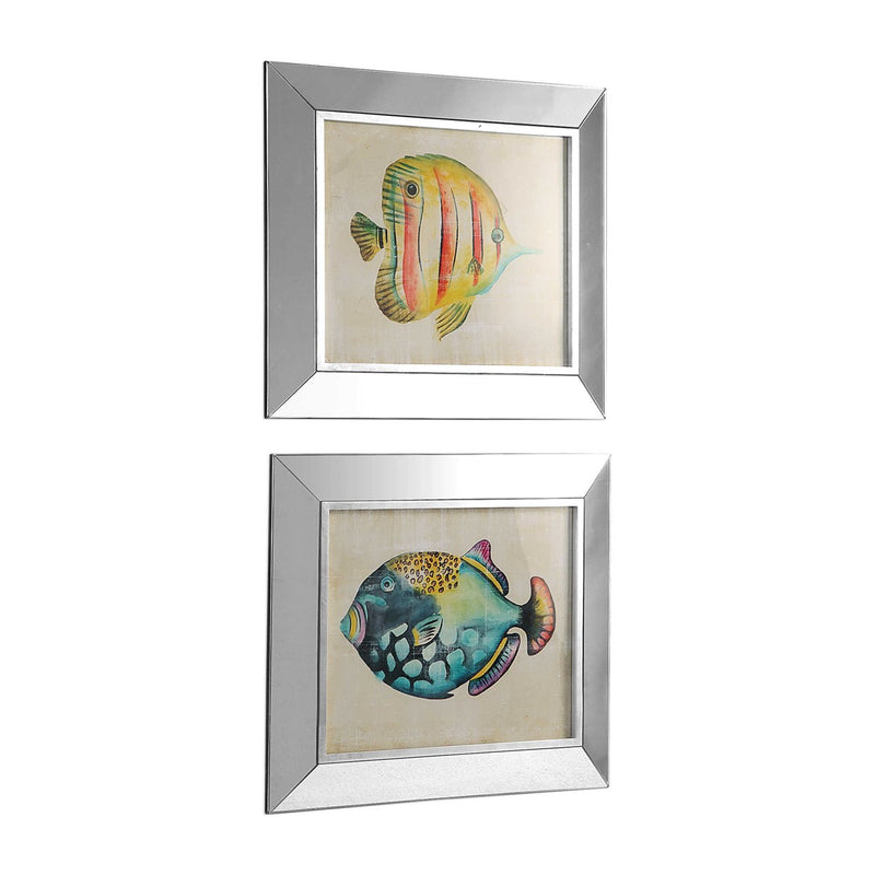Uttermost Aquarium Fish Framed Prints Set of 2