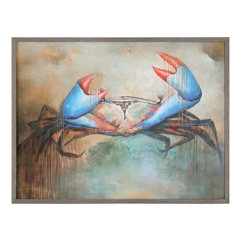 Uttermost Sam The Crab Hand Painted Canvas
