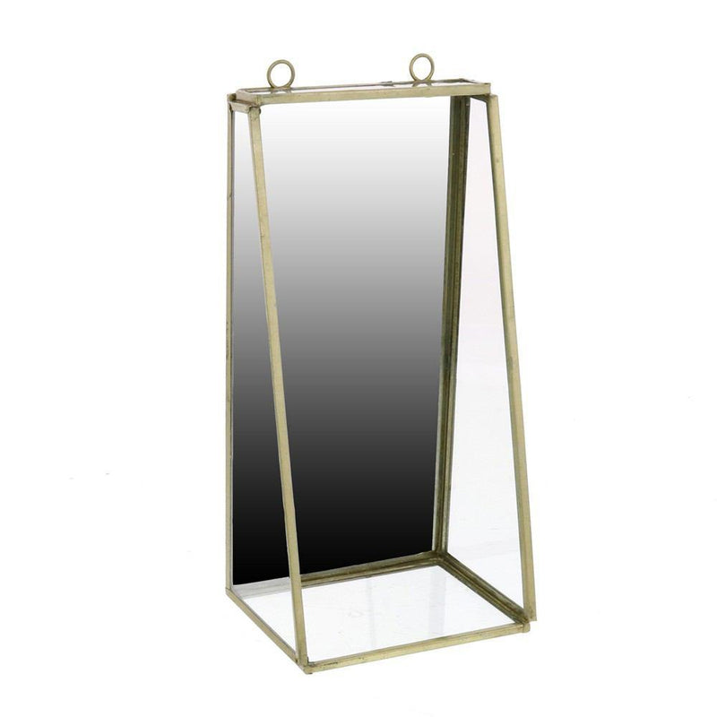 HomArt Monroe Mirror with Shelf - Brass - Small