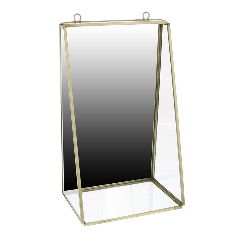 HomArt Monroe Mirror with Shelf - Brass - Med