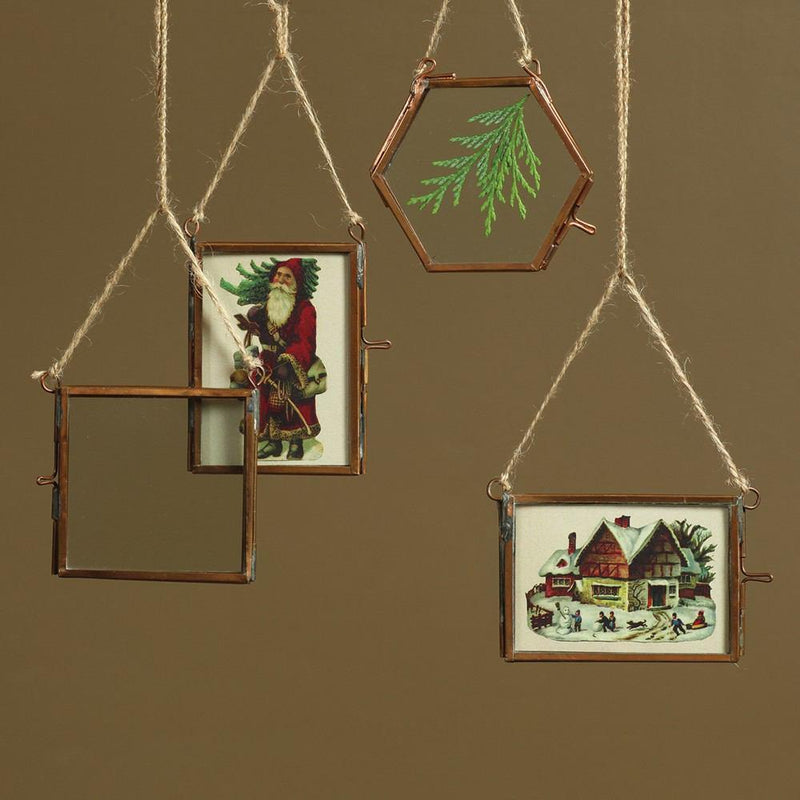HomArt Cornell Ornament Frame - Rectangle - Wallet - Copper - Set of 4 - Feature Image