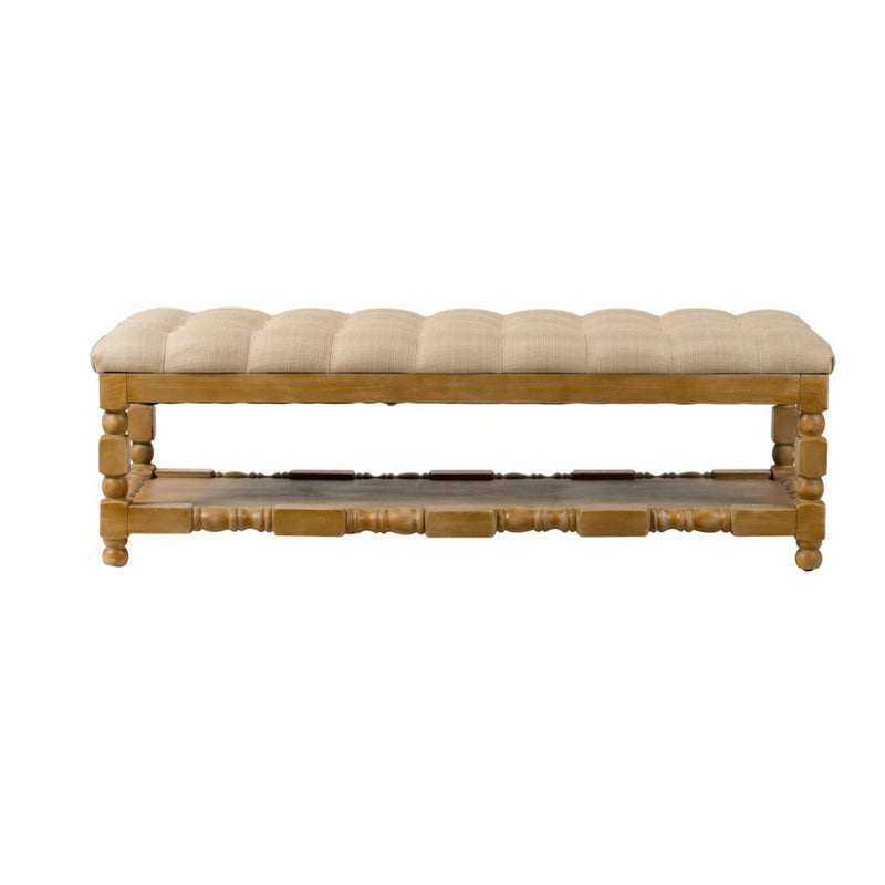 A&B Home Khaki Upholstered Bench
