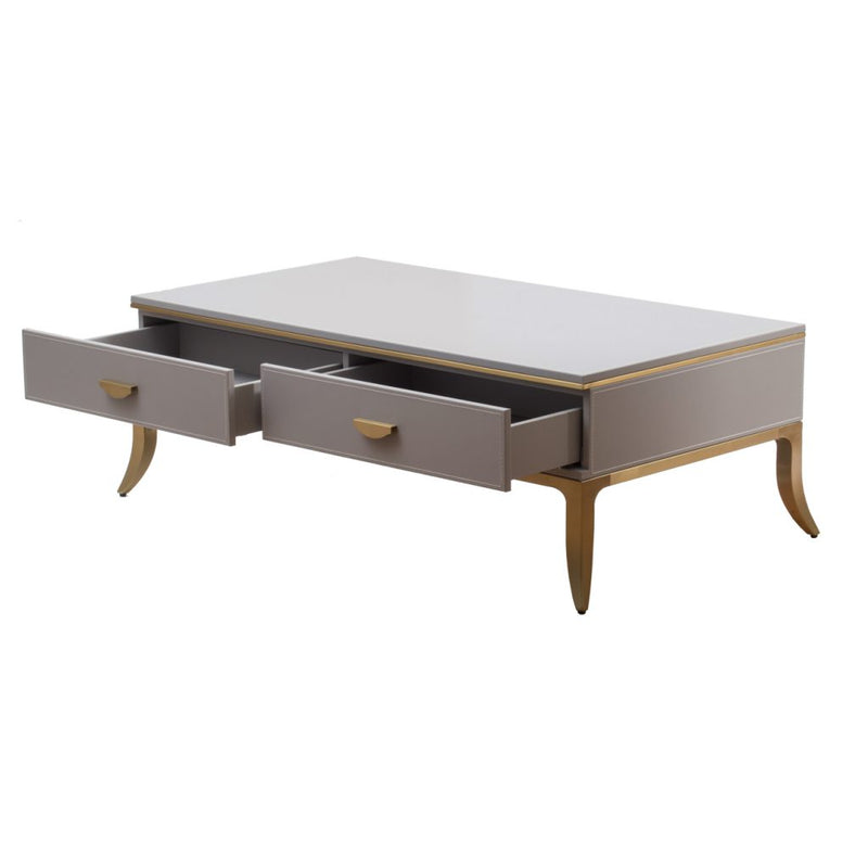 A&B Home Matte Gray Finished Coffee Table