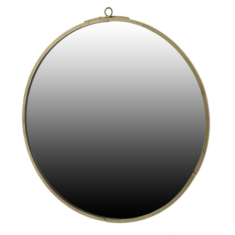HomArt Monroe Round Mirror - Brass - Small