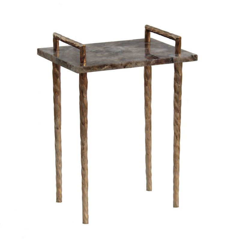 A&B Home Handcrafted Metal Framed Accent Table