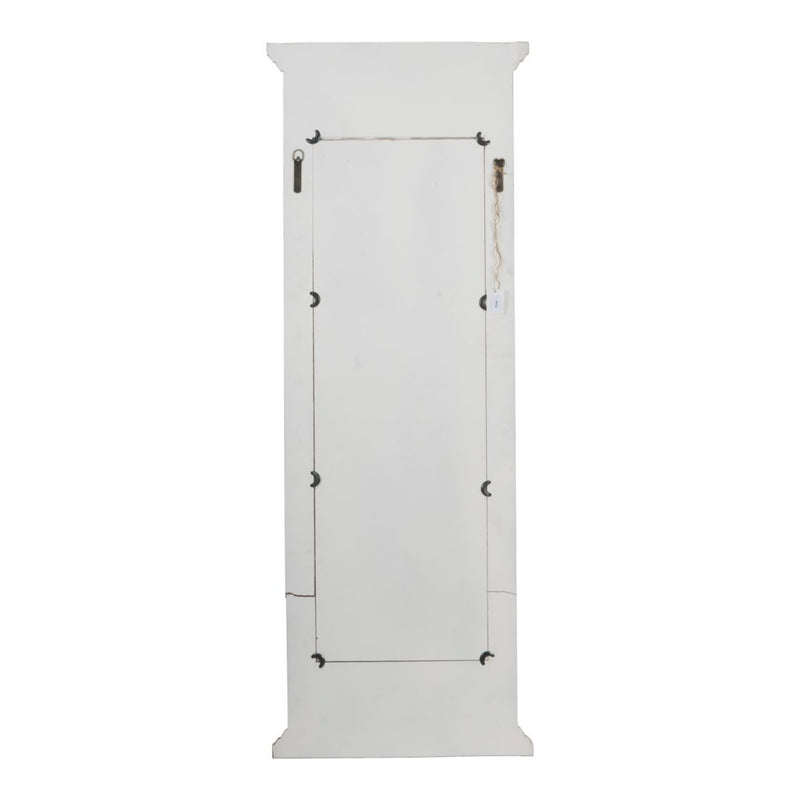 A&B Home Distressed White Mirror