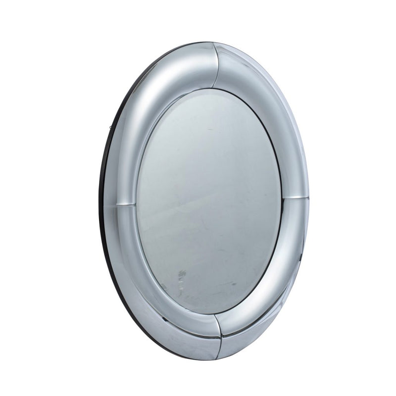 A&B Home Silver Curved Wall Mirror