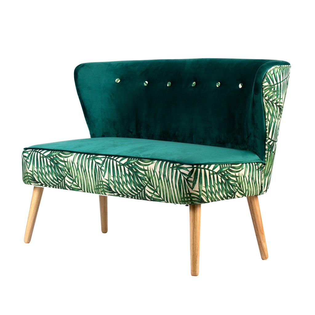 A&B Home Green Fern 2 Seater Sofa