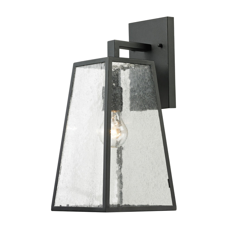 Meditterano 1-Light Outdoor Wall Lamp in Matte Black - Large ELK Lighting