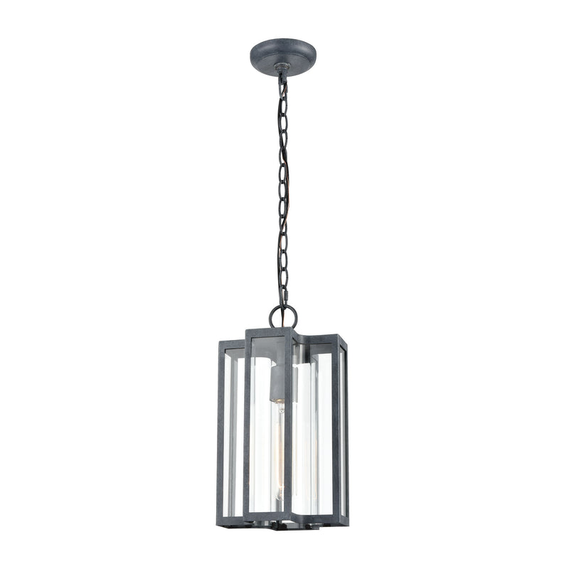 Bianca 1-Light Hanging in Aged Zinc with Clear ELK Lighting