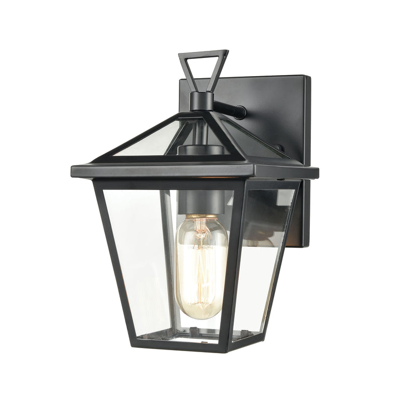 Main Street Outdoor Wall Lamps in Black with Clear Glass Enclosure by ELK Lighting