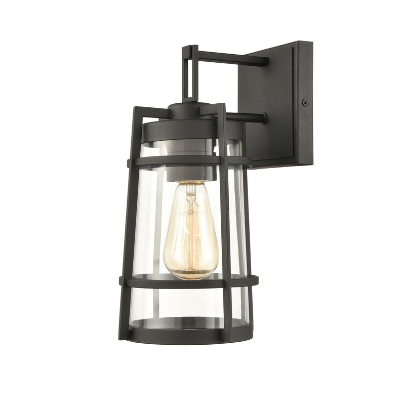 Crofton 1-Light Outdoor Wall Lamps in Charcoal with Clear Glass by ELK Lighting