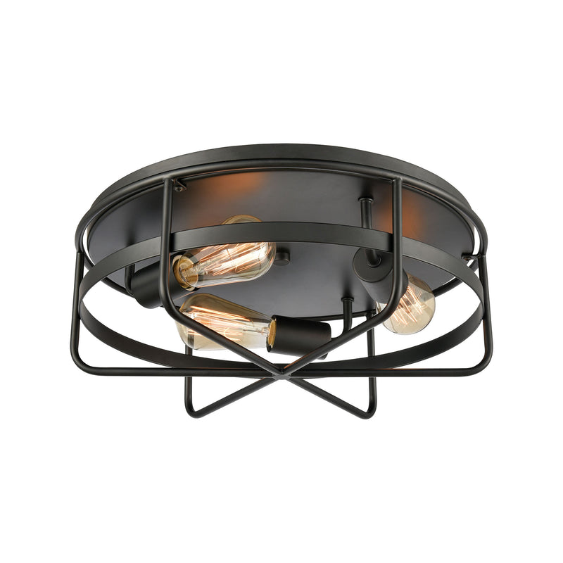 Wickshire 3-Light Flush Mount in Matte Black by ELK Lighting
