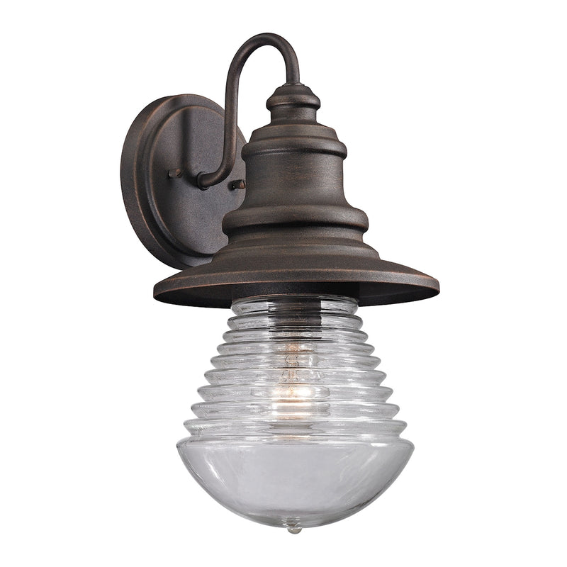 Westport 1-Light Outdoor Wall Lamp in Weathered Charcoal ELK Lighting