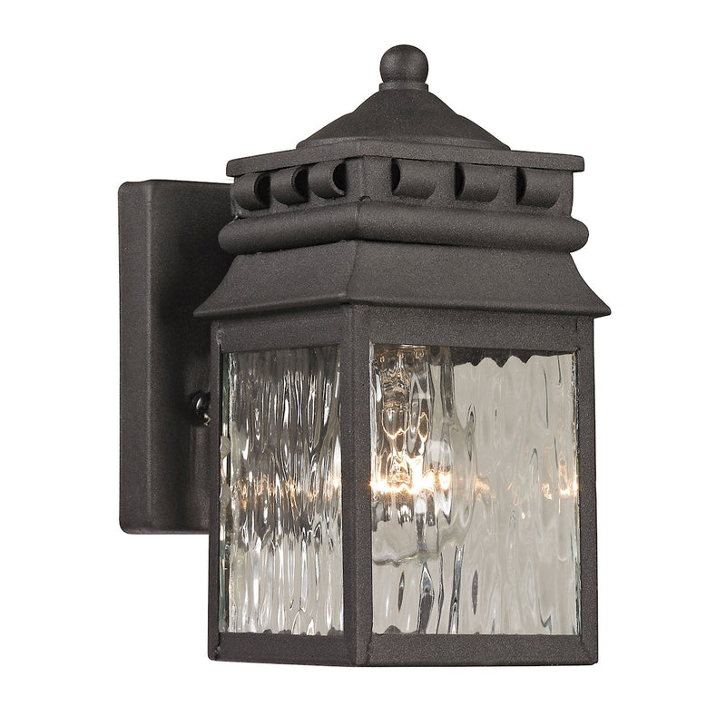Forged Lancaster Collection 1 light outdoor sconce in Charcoal ELK Lighting
