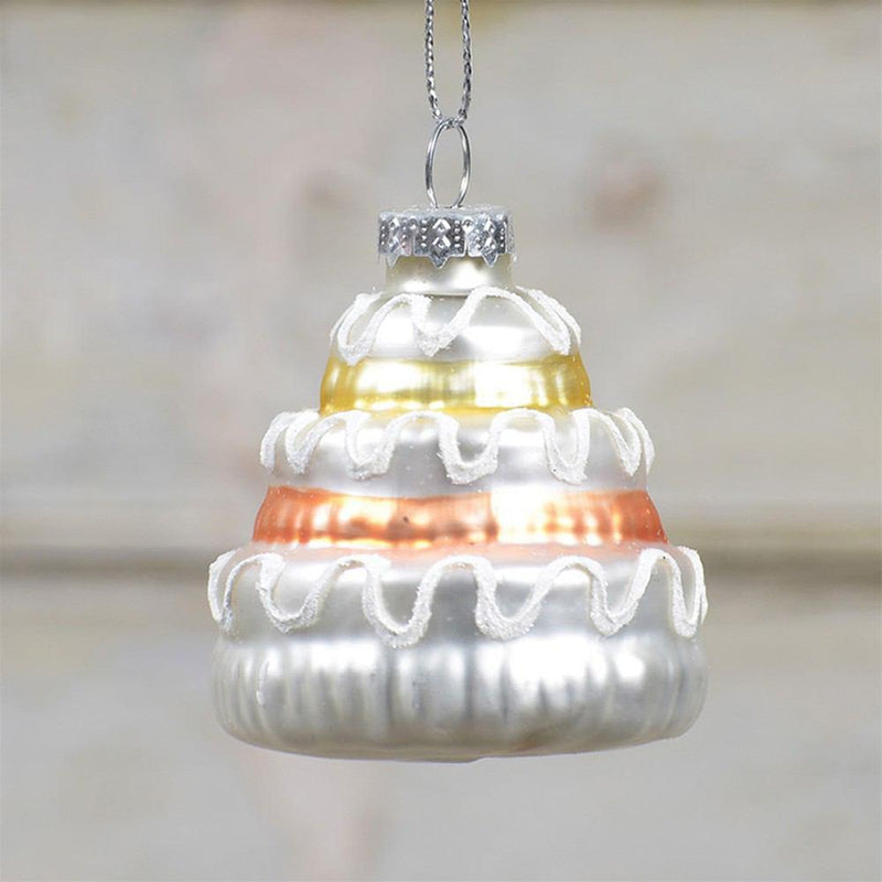 HomArt Glass Wedding Cake Ornament - Set of 12 - Feature Image