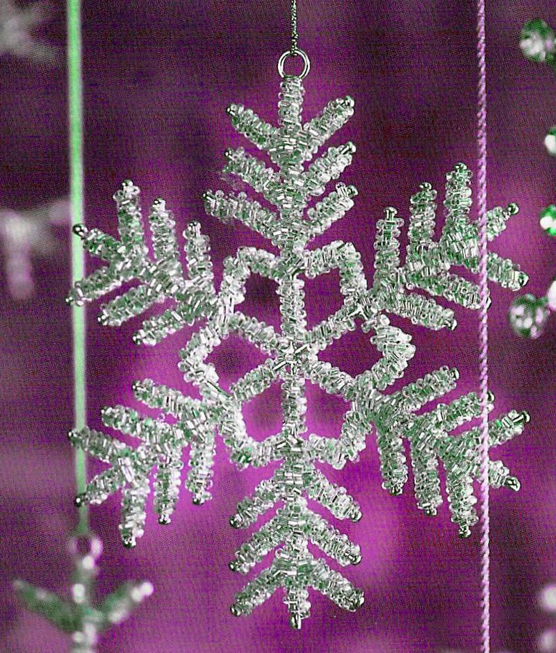 Victorian Snowflake Decorative Christmas Ornaments - Set Of 5