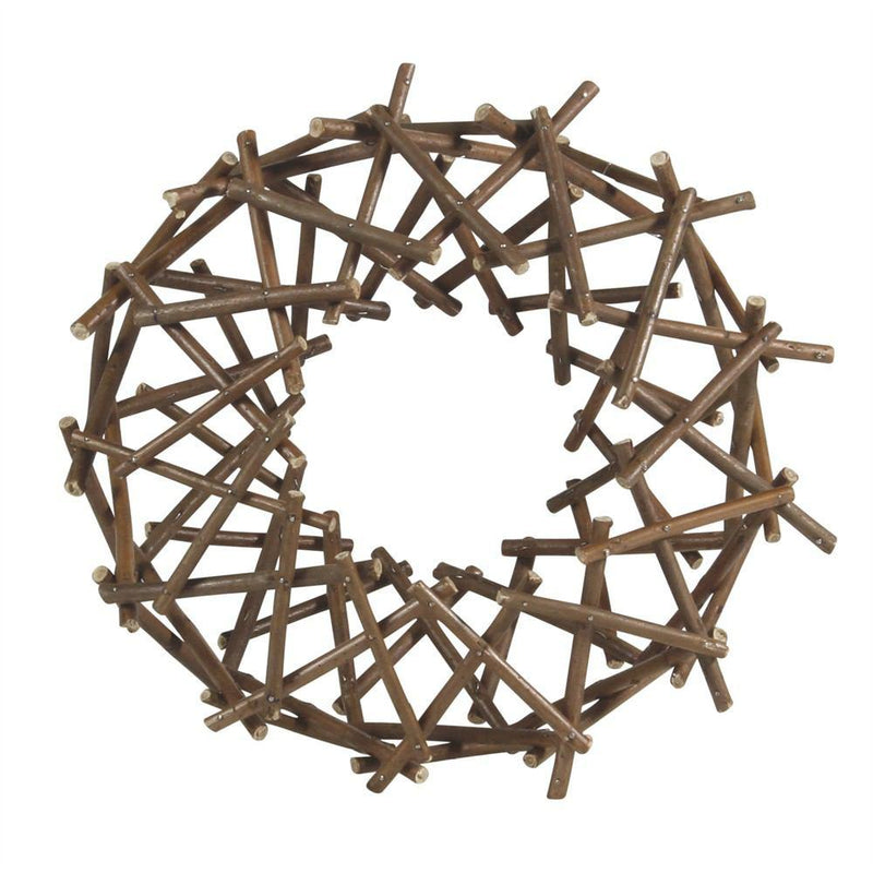 HomArt Willow Wreath - Small - Natural - Set of 6