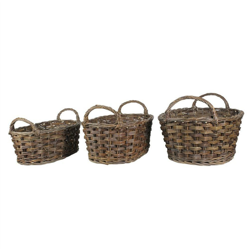 HomArt Willow Baskets Oval - Set of 6 - Natural - Feature Image