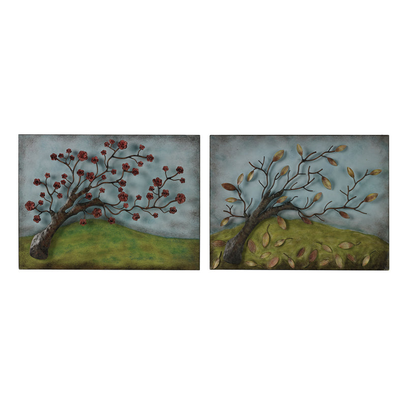ELK Lighting Metal Autumn And Spring Pictures - Set Of 2 Wall Decor, ELK Lighting, - Modish Store