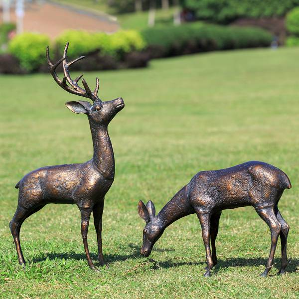 Meadow Wanderers Garden Sculptures Pair By SPI Home
