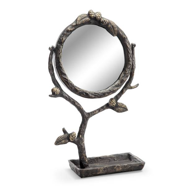 Pinecone and Branch Vanity Mirror By SPI Home