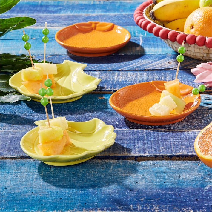 Two's Company Tropical Punch Set Of 4 Fruit Dishes