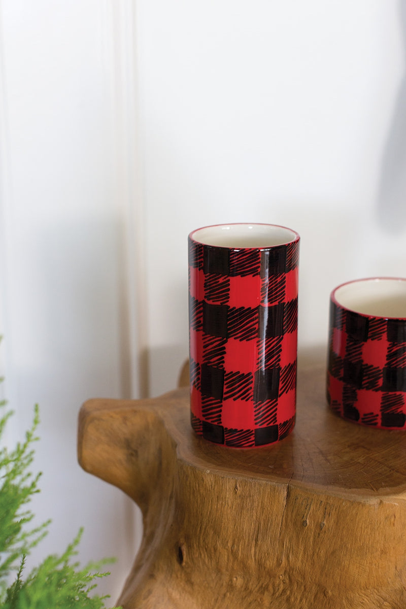Flannel Vase Set of 8 By Accent Decor
