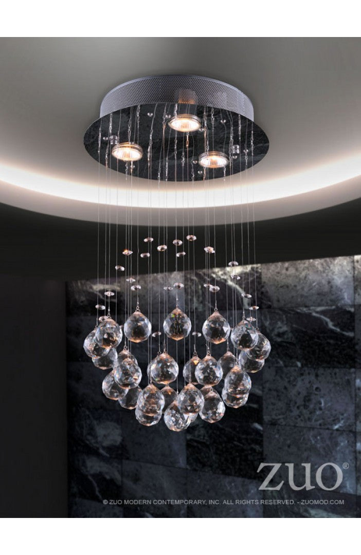 Zuo Pollow Ceiling Lamp Clear
