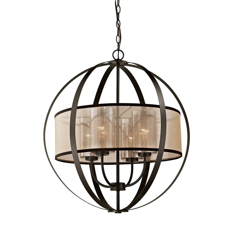 ELK Lighting Diffusion 4 Light Chandelier In Oil Rubbed Bronze -  57029/4