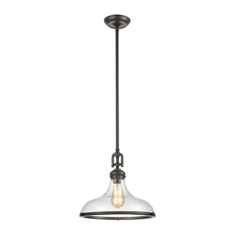 Rutherford 1-Light Pendant with Seedy Glass by ELK Lighting