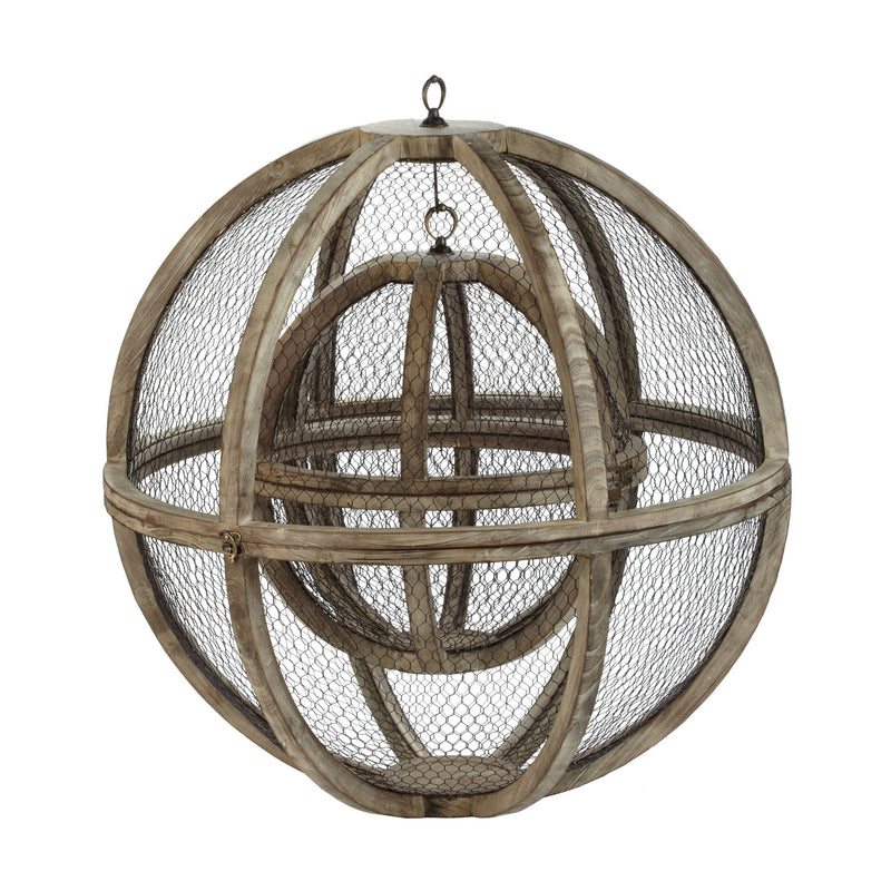 Dimond Home Wire Atlas Spheres - Set Of 2