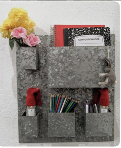 Five Pocket Metal Wall Planter/ Utility Organiser