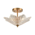 Radiance 3-Light Semi Flush with Clear Textured Glass by ELK Lighting