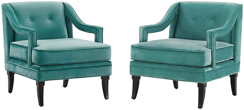 Concur Living Room Set Performance Velvet Set of 2 Modway