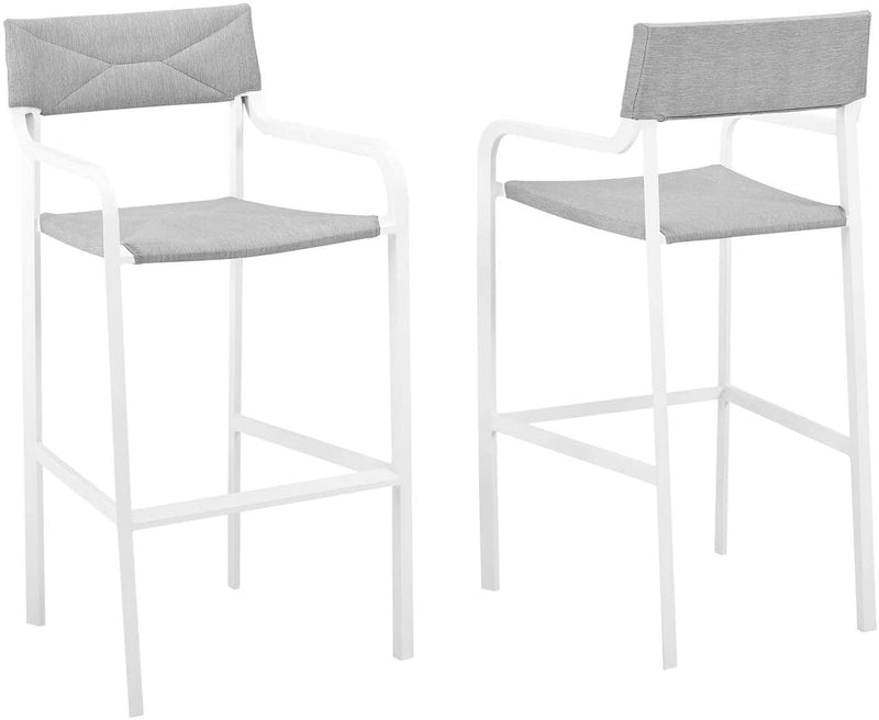 Modway Raleigh Outdoor Patio Aluminum Bar Stool Set of 2