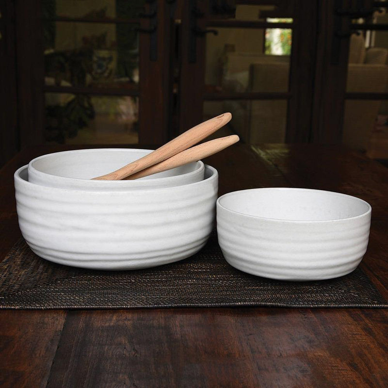 HomArt Liam Ceramic Serving Bowls - Set of 3