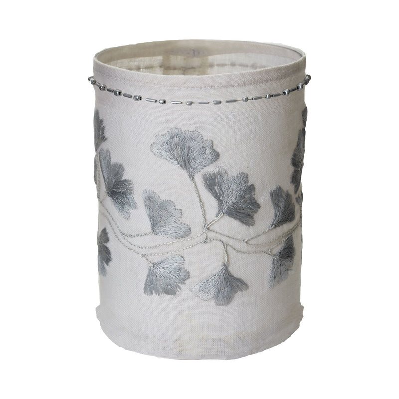 ELK Lighting Linen Silver Stitched White Ginkgo Candle Holders, ELK Lighting, - Modish Store