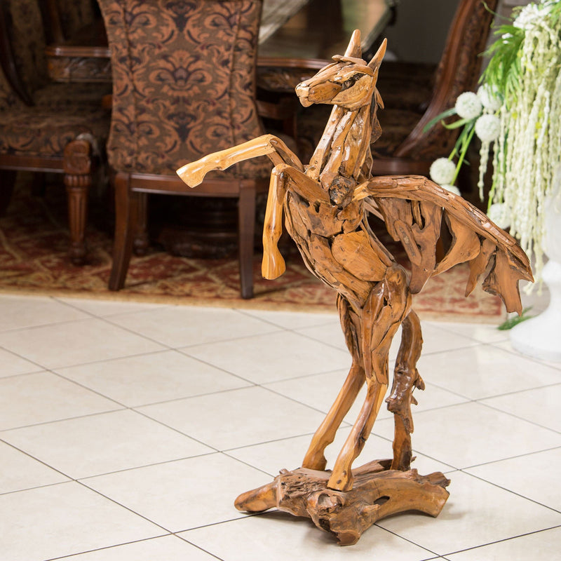 Teak Root Pegasus by Garden Age Supply