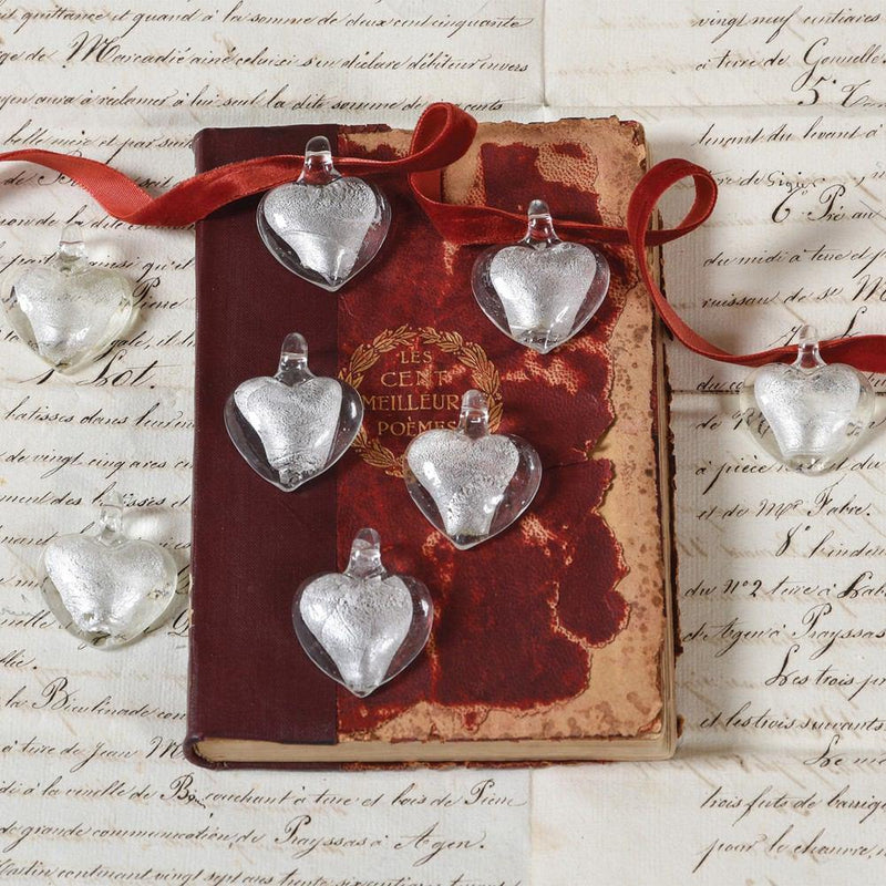 HomArt Wedding Hearts - Silver - Set of 24 - Feature Image