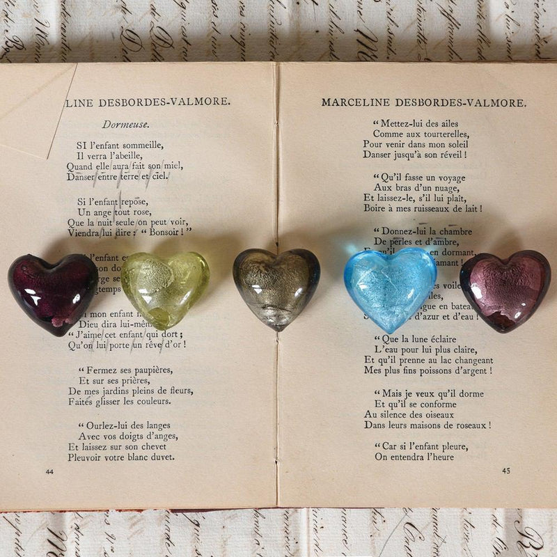 HomArt Venetian Glass Heart - Set of 24