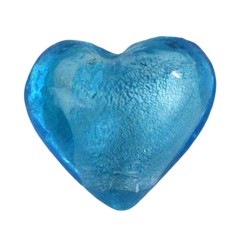 HomArt Venetian Glass Heart - Sky Blue