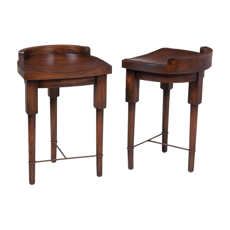 Guild Master European Farmhouse Counter Stool In Deep Forest Stain