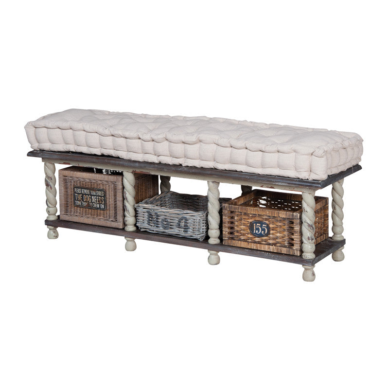 Guild Master European Farmhouse Storage Bench