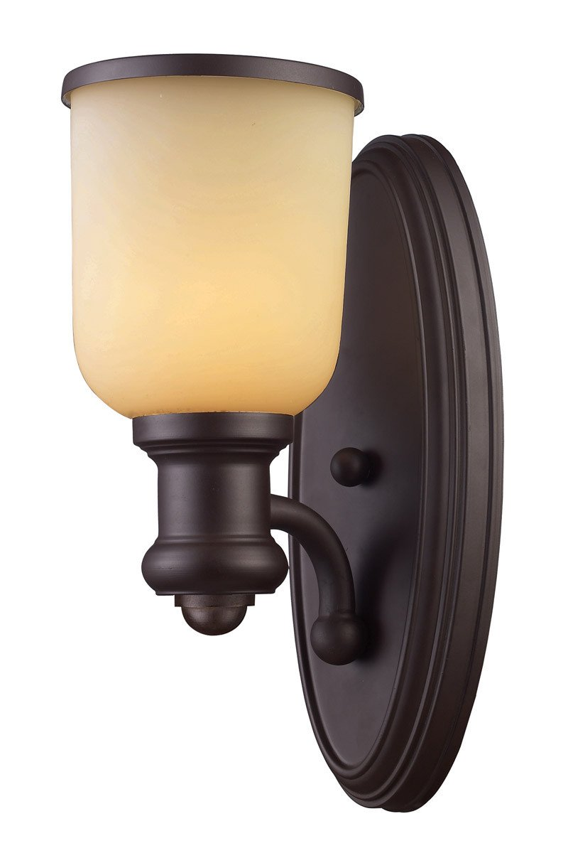 ELK Lighting Brooksdale 1 Light Sconce In Oiled Bronze - 66170-1