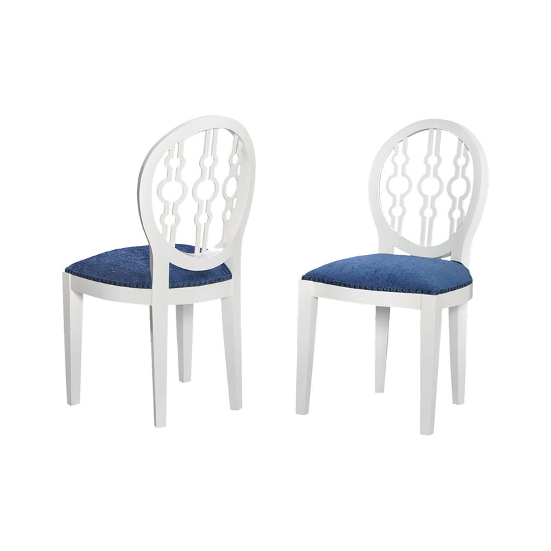 Sterling Industries Dimple Chair In Cappuccino Foam And Navy Fabric