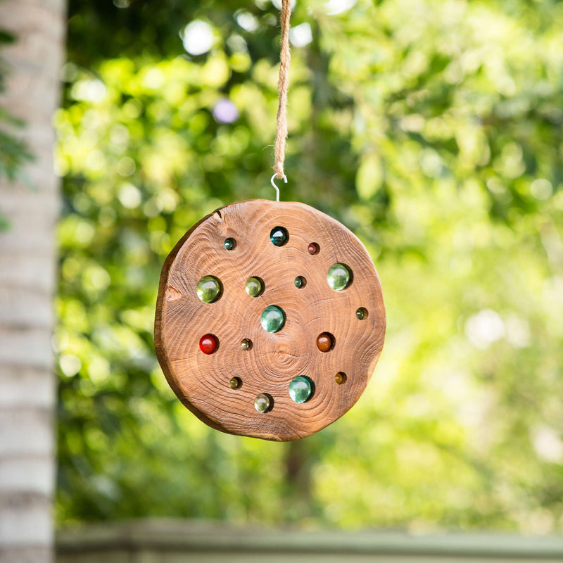 Teak Slab Sun Catcher by Garden Age Supply