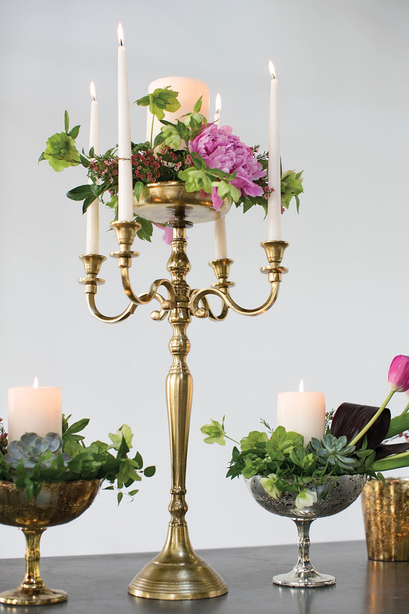 Moretti Candelabra  Set Of 2 By Accent Decor