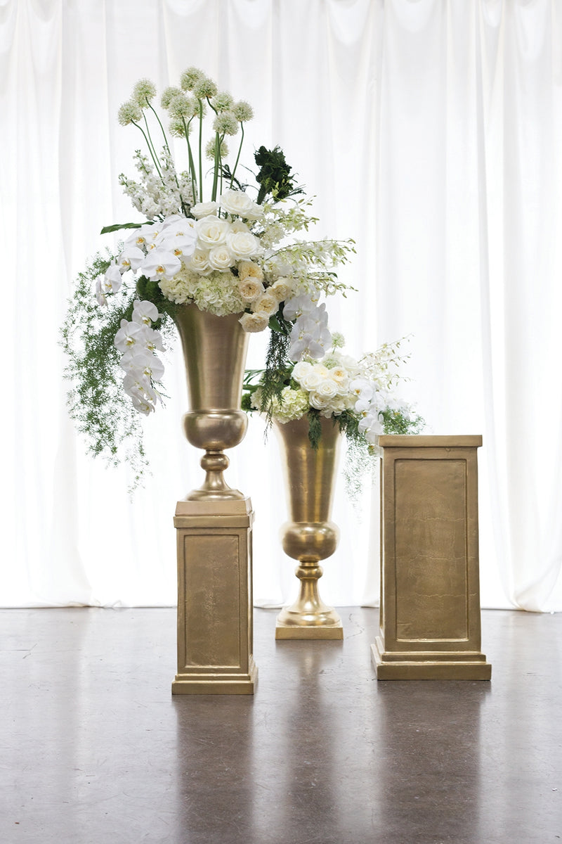 Sparta Urn and Pedestal Set Of 2 By Accent Decor